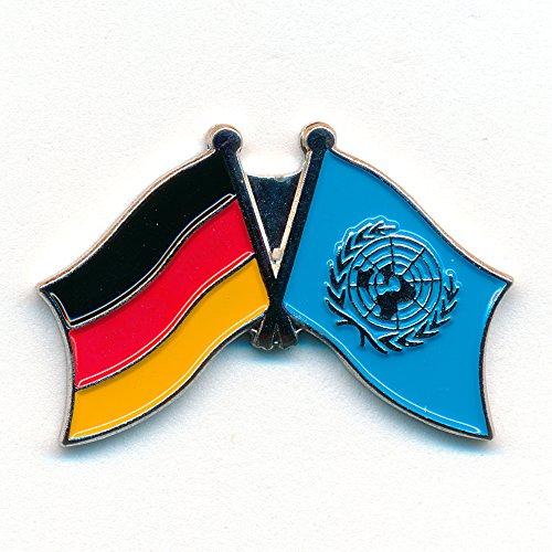 Deutschland UN UNO Vereinte Nationen Welt Symbol Flagge Badge Pin Anstecker 0786