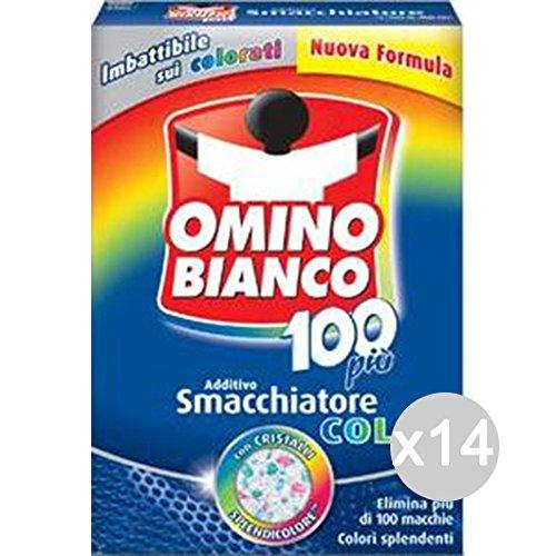 Omino Lot de 14 détergents pour machine à laver et lessive 100 g Blanc nacré 430/500 g