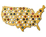 USA Beer Cap Map - Skyline Workshop - beautiful maple wood - Beer Cap Holder - Fun Unique Gift