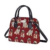 Signare tapiz mochila bandolera bolsos pequeños para mujer con diseños de perro (Doguillo)