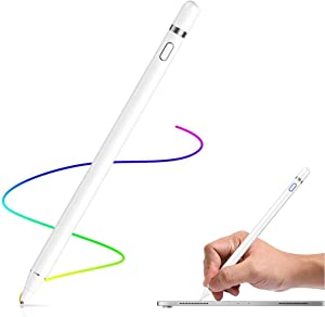 Active Stylus Pencil Compatible for Apple,Stylus Pens for Touch Screens, Capacitive Pencil for Kid Student Drawing, Writing,High Sensitivity,for Touch Screen Devices Tablet,Smartphone (White)
