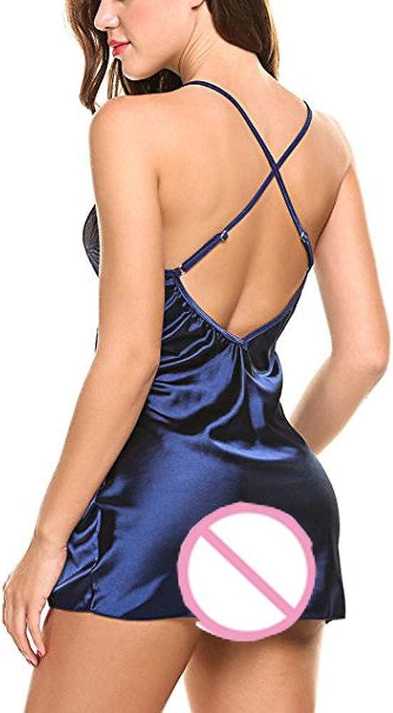 Women Lace Lingerie Babydoll Dress Strap Sleepwear Sexy Temptation Charming Nighty Satin Nightgown Comfort Nightwear