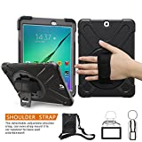 Samsung Galaxy Tab S2 9.7 Housse, Braecn Heavy Duty Full-body Rugged PC Coque en...