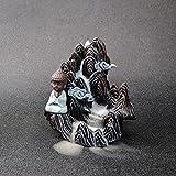 sdfpj Humo Cascada Retroceso Incienso Incienso Creativo Decoración for el hogar Soporte de Incienso Portátil Resina Censura Montaña Río Handicrafts (Color : 16x11x16cm)