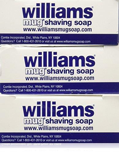 Williams Mug Shaving Soap, 3 Count