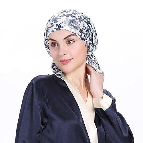 可愛いナイトキャップシルクキャップ切れ毛予防保湿お休みキャップシルク100%産後用キャップ妊婦キャップ睡眠改善髪の毛を保護(2)