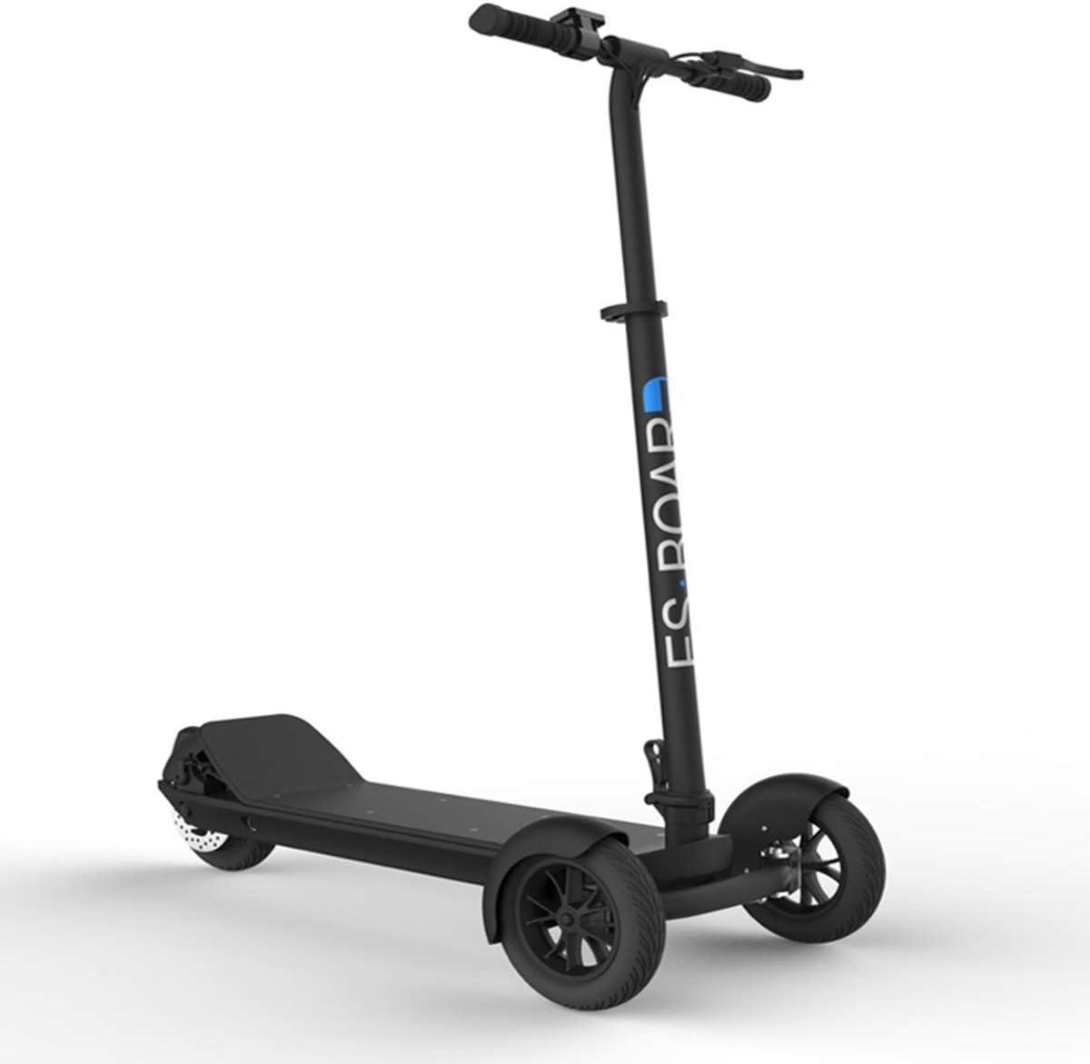 Dapang Scooter para Adultos, 3 Ruedas, Barra en T, manija de Altura Ajustable, patinetas, 500W 48V, Bicicleta eléctrica Impermeable con Rango de 30 Millas, Marco Plegable,1,30km