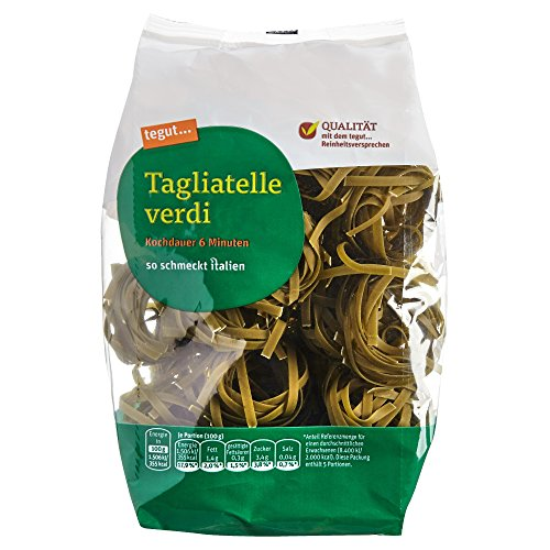 tegut... Italienische Nudeln Tagliatelle Verdi, 1 x 500 g