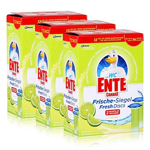 3x WC Ente Frische Siegel Nachfüller Limone
