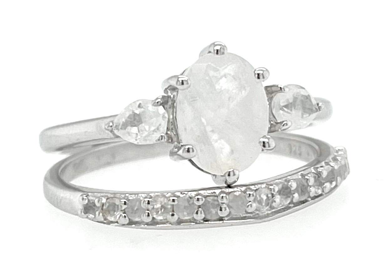 Genuine Rainbow Moonstone 925 Solid Engagement Sterling Our shop most popular Popular standard Silver R