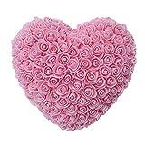 Ploufer en Forme de Coeur Rose Fleur Cadeau Rose Fleur éternelle Rose Amour Coeur Cadeau Luckything Coeur Forme Rose Fleur Festival Mariage décoration Saint Valentin Cadeau d'anniversaire