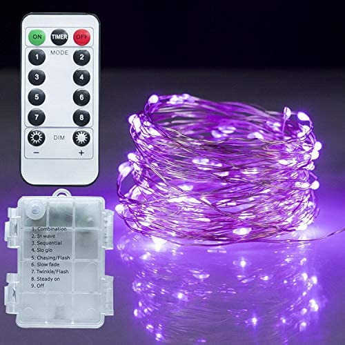 Twinkle Star Fairy Lights 33ft 100 LED Battery Operated Waterproof String Lights with Remote product image