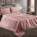 Best Satin Sheets - RUDONG M 4 Piece Pink Champagne Satin Sheets Review