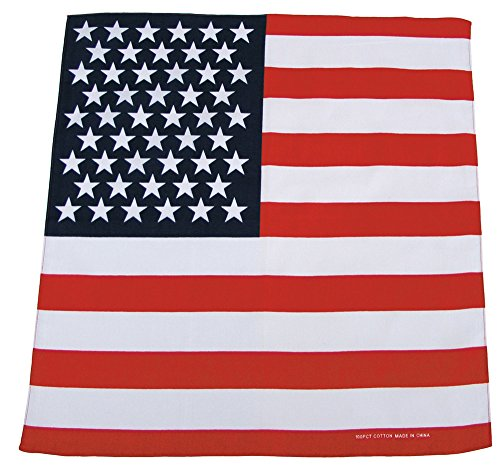 Unbekannt Bandana, Coton, 55 x 55 cm, Couleur:USA Fahne