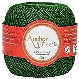 Anchor Freccia 4771012-00322 - Hilo para ganchillo, 100% algodón, color verde