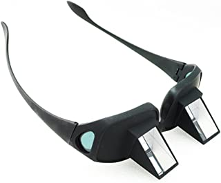 Genmine Horizontal Lazy Glasses High Definition Glasses Prism Periscope Lie Down Eyeglasses for Reading and Watch TV in Bed Unisex