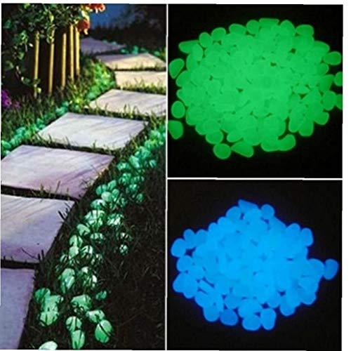 Amoyer 10pcs Garten Kiesel Glow Steine ??Glow Dunkellicht Für Gehwege Simulation Lumineszente Gartenweg Steingarten-dekor