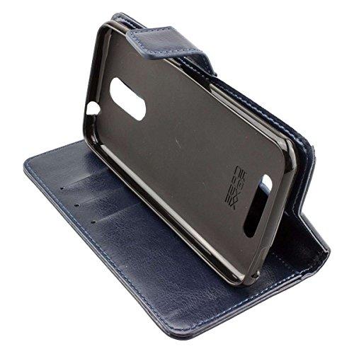 caseroxx Handy Hülle Tasche kompatibel mit Gigaset GS160 / GS170 Bookstyle-Hülle Wallet Hülle in blau