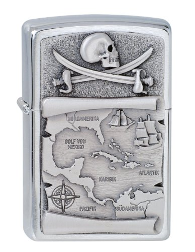 Zippo Zippo Feuerzeug 60001622 SOFTOUCH Skull Benzinfeuerzeug, Messing Map(language_tag -> De_de)