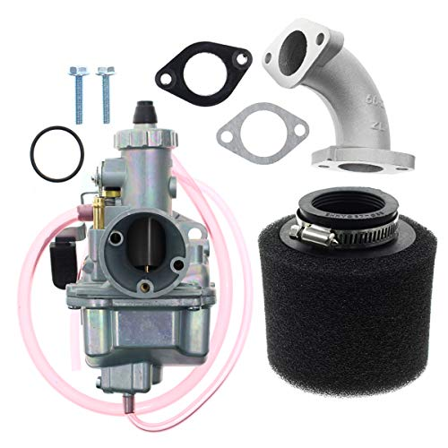 Carbhub VM22 26mm Carburetor for Intake Pipe Pit Dirt Bike 110cc 125cc 140cc Lifan YX Zongshen Pit Dirt Bike XR50 CRF70 KLX BBR Apollo Thumpstar Braaap Atomic DHZ SSR VM22 26mm Carburetor