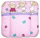 Baby Auflage Wickelauflage - Schaf rosa/violet - 70x50 cm 70x70 cm 70x85 cm Wickeltischauflage 70x50 cm