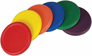 American Educational Products Ultra Soft Foam Frisbees, Assorted Colors, Set of 6
