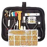 Kit de fabricación de joyas, juego de 17 piezas de herramientas de reparación de joyas con suministros para fabricación de joyas y reparación de joyas