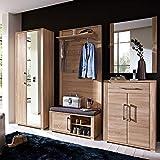 GO Garderoben Set in heller Sonoma Eiche Optik - moderne Softclose Flurgarderobe für Ihren Eingangsbereich - 268 x 200 x 40cm (B/H/T) - 4