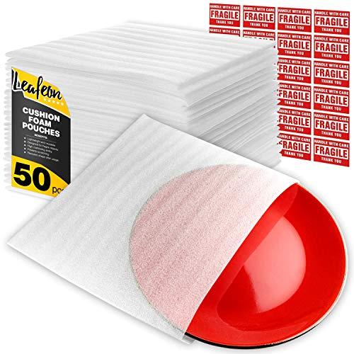 Saccheti in Schiuma - 30 x 30 cm - Sacchetti con Involucro - Fogli in Schiuma da Imballaggio per Avvolgere Piatti - Buste in Schiuma per Traslochi, Spedizioni, Imballaggi - 50 Pezzi