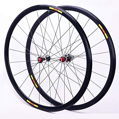 TianyiTrade 700c Rennrad Fahrrad Ultraleicht Aluminium Laufradsatz Felge Schnellspannachse Nabe 8,9,10,11 Speed Cassette 700C (28