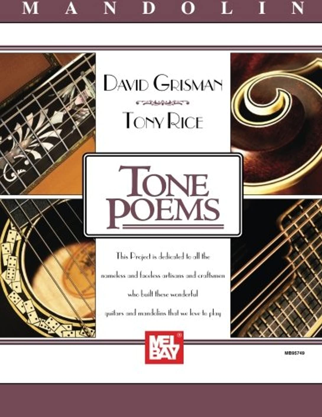 レーザゆり変換Mel Bay Presents Tone Poems for Mandolin (Acoustic Disc Records)
