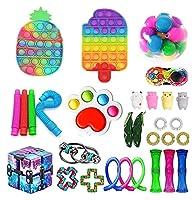 30個のPCSフィジットのおもちゃパック、ポップバブル安い感覚のフィジットのおもちゃのストレスリリーフと子供の大人のための反不安ツール (Color : 30 Pack-d)