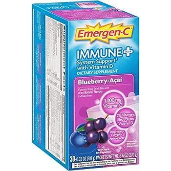 Emergen-C - Immune+ Formula 0.3 Oz Blueberry Acai 30/Pack