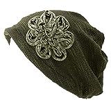 CasualBox 医療用帽子 Renzo [ フリーサイズ/カーキ ] 薄手 コットン 帽子 レディース ワッチキャップ