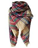 Loritta Womens Plaid Blanket Scarf Winter Soft Warm Cozy Tartan Fashion Scarves, Muticolor 01