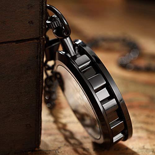 JIRENSHU Taschenuhren für Herren und Damen Digitales Zifferblatt mit mechanischem Handaufzug Taschenuhren für Herren und Damen