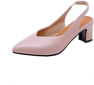 BalaMasa Womens ASL06337 Pu Block Heels