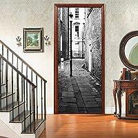 Vista stradale 3Dドアステッカー、アートホームデコレーション用PVC壁画デカール30.3x78.7(77x200cm)