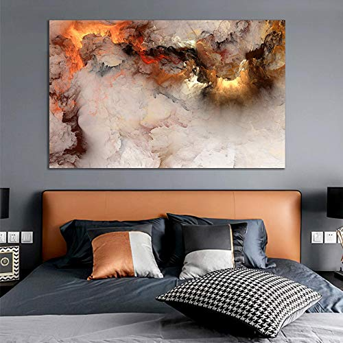 XIANGPEIFBH Colorful Clound Decoration Salon Pictures for Wall Modern Canvas Posters Prints Home Decor Pictures Art Painting 45x60cm(18'x24') Unframed