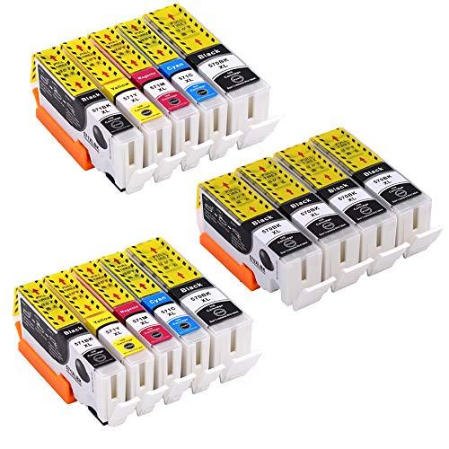 Pure-color 14 stuks Vervanging voor Canon PGI-570 CLI-571 inktcartridge Compatibel voor Canon MG5750 TS5050 MG5751 MG5752 MG5753 MG6850 MG6851 MG6852 MG6853 TS5051 TS5053 TS5055 TS6050 TS6051 TS6052