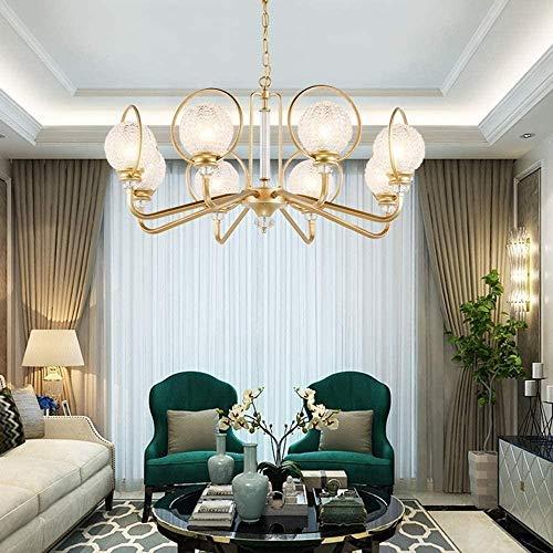 DUANCUICUIZ Lampada Luminosa Moderna Lussuosa 12 Luci K9 Crystalr Lampada A Sospensione della Candela Lampada da Soffitto del Soffitto per La Camera da Pranzo