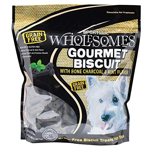Sportmix Wholesomes Gourmet Biscuit With Bone Charcoal And Mint Flavor Grain Free Dog Treats, 3 Lb.