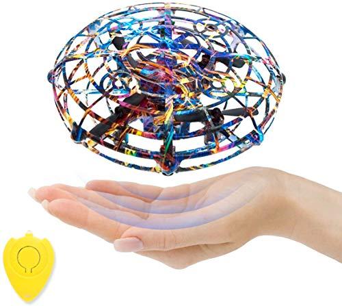 SZSMD Fliegende Spielzeug Mini Drohne, Infrarot Induktions Fliegender Ball, Kinderspielzeug mit Fernbedienung Fliegendes Spielzeug & Bunt Leuchtendem LED Licht Lustig Geschenke für Kinder und Familie
