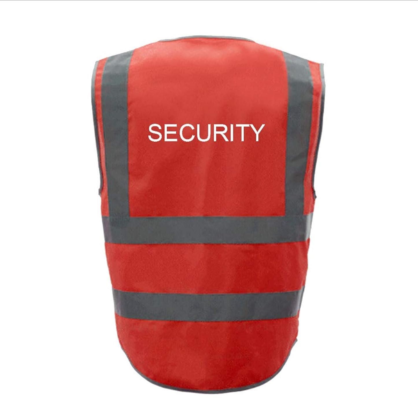 奨励収入抑圧するTOPTIE 50 PCSセキュリティ8ポケットジッパーフロント高視認性反射安全ベスト卸売 - レッド - XXL