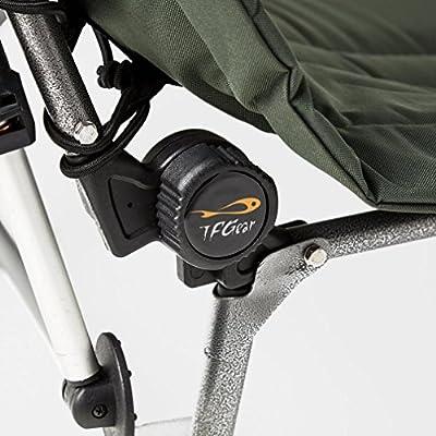 TF Gear Deluxe Folding 3 leg Carp Fishing Bedchair With Mudfeet by TFG