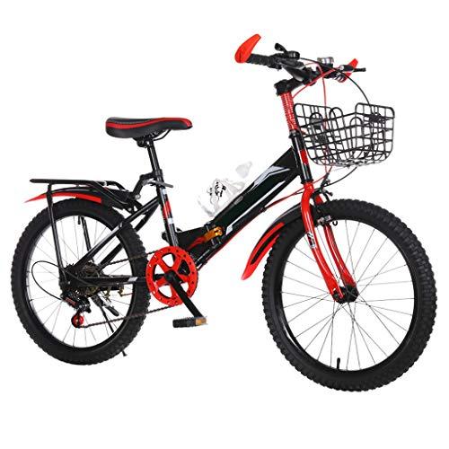 TXTC Niños Bici Plegable, Bicicletas Montaña, Sostenedor De La Botella De Bicicleta...