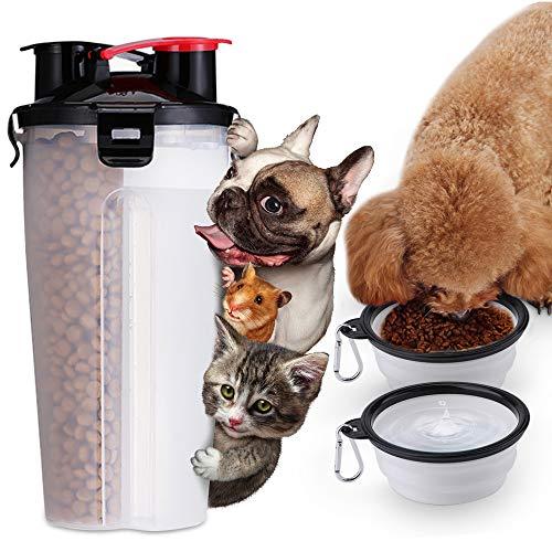 MUXItrade 2 in 1 Botella de Agua para Perros para Caminar Dispensador de Agua para Mascotas Moda Antibacterial portátil para Perros Viaje Botella