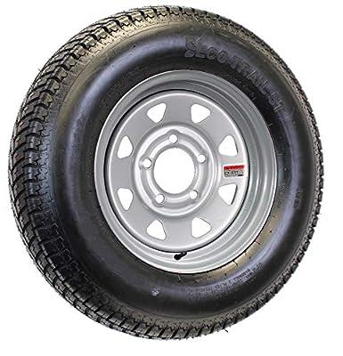 ST215/75D14 Loadstar Trailer Tire LRC on 5 Bolt Silver Spoke Wheel