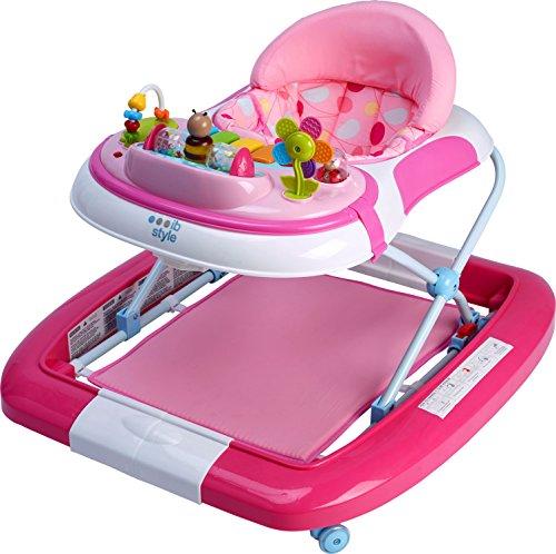 ib style -Little Driver | 3 in 1| Girello,swing e scrivania di attività |rosa