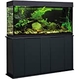 Aquatic Fundamentals, 55 Gallon, Black Upright Aquarium Stand, Made in the USA